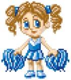 Pixel Art Cheerleader Fotografía de archivo