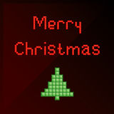 Pixel art Christmas card Stock Photo