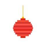 Pixel art Christmas tree ball Stock Photography