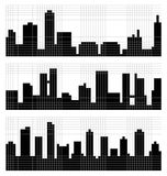 Pixel Art City Skyline Royalty Free Stock Photography