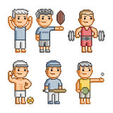 Pixel art collection of various sports Stock Images