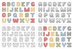 Pixel art colorful alphabet Stock Photo