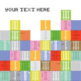 Pixel art container stack Royalty Free Stock Images