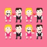 Pixel Art Couple Stock Photos