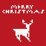 Pixel art deer Stock Photo