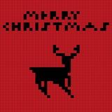 Pixel art deer Royalty Free Stock Image
