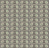 Pixel Art Dollar Bill background Royalty Free Stock Images
