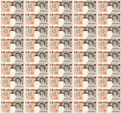 Pixel Art Dollar Bill background Royalty Free Stock Photos