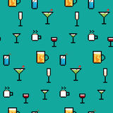 Pixel Art Drinks Imagem de Stock Royalty Free