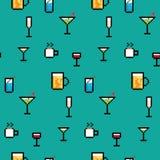 Pixel Art Drinks Royalty Free Stock Image