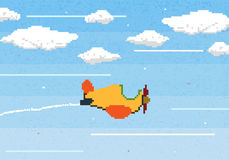 Pixel art game. Background,illustraion Royalty Free Stock Photography