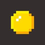Pixel art golden coin retro video game. Set Stock Photos
