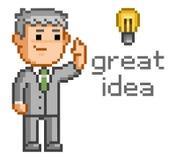 Pixel art great idea Stock Image