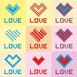 Pixel art heart Stock Photo