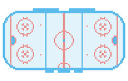 Pixel art hockey stadium playground ice court Stock Photo