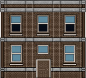 Pixel art house for background Stock Photo