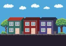 Pixel Art House Stock Image
