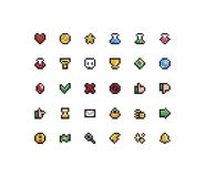 PIXEL Art Icons stock illustrationer