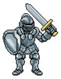 Pixel Art Knight Imagen de archivo libre de regalías