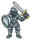 Pixel Art Knight Royalty Free Stock Image