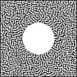 Pixel art labyrinth Royalty Free Stock Images