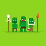 Pixel Art Orcs Stock Image
