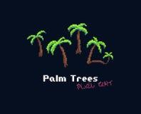 Pixel Art Palms Stock Photos