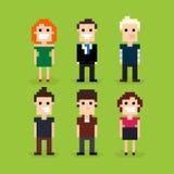 Pixel Art People stock de ilustración