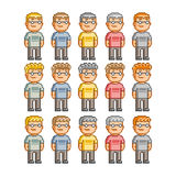 Pixel Art People Imagem de Stock