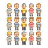 Pixel Art People Imagem de Stock