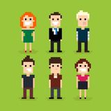Pixel Art People Stock Image