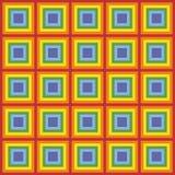 Pixel art rainbow pattern. Pixel art background rainbow squares vector illustration