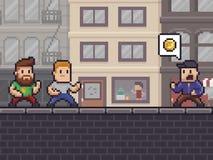 Pixel Art Robbery illustration stock