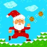 Pixel art Santa Clause Stock Photo