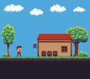 Pixel Art Scene Royalty Free Stock Photos