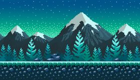 Pixel art seamless background. Stock Images