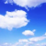 Pixel art sky vector photorealistic background Stock Photos