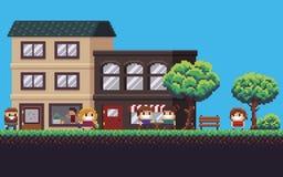 Pixel Art Street Stock Image