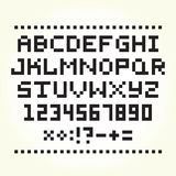 Pixel art style font  vector Royalty Free Stock Image