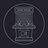 Pixel art style simple line drawing of arcade Royalty Free Stock Photos