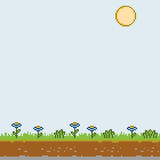 Pixel art sunny day Stock Images