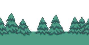 Pixel Art Trees Stock Photos