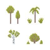 Pixel Art Trees Royalty Free Stock Photography