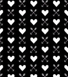 Pixel-art Valentines Day Pattern Royalty Free Stock Image