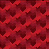 Pixel-art Valentines Day Pattern Stock Photos