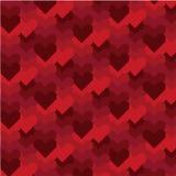 Pixel-art Valentines Day Pattern Stock Photos