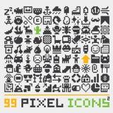 Pixel art web icons vector set 2 Stock Photos
