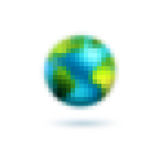 Pixel art world Stock Image