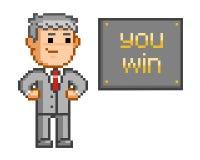 Pixel art You win Royalty Free Stock Photo