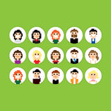 Pixel Avatar Royalty Free Stock Images